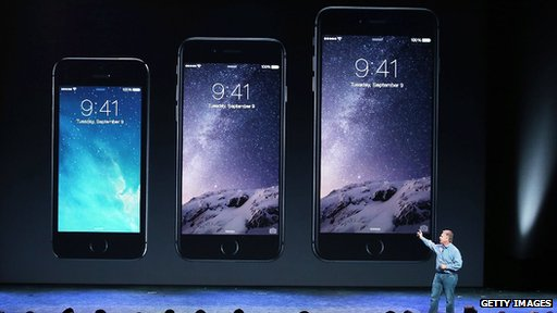The new iPhones are bigger and thinner than the previous version